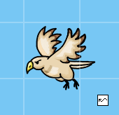 Hawk who travels in a sine-wave